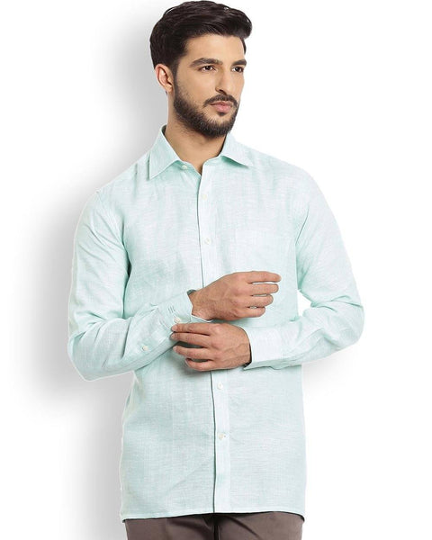 Raymond  Green Contemporary Fit Shirt