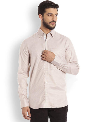 Raymond Beige Regular Fit Shirt