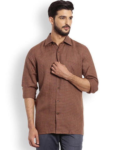 Raymond  Brown Contemporary Fit Shirt