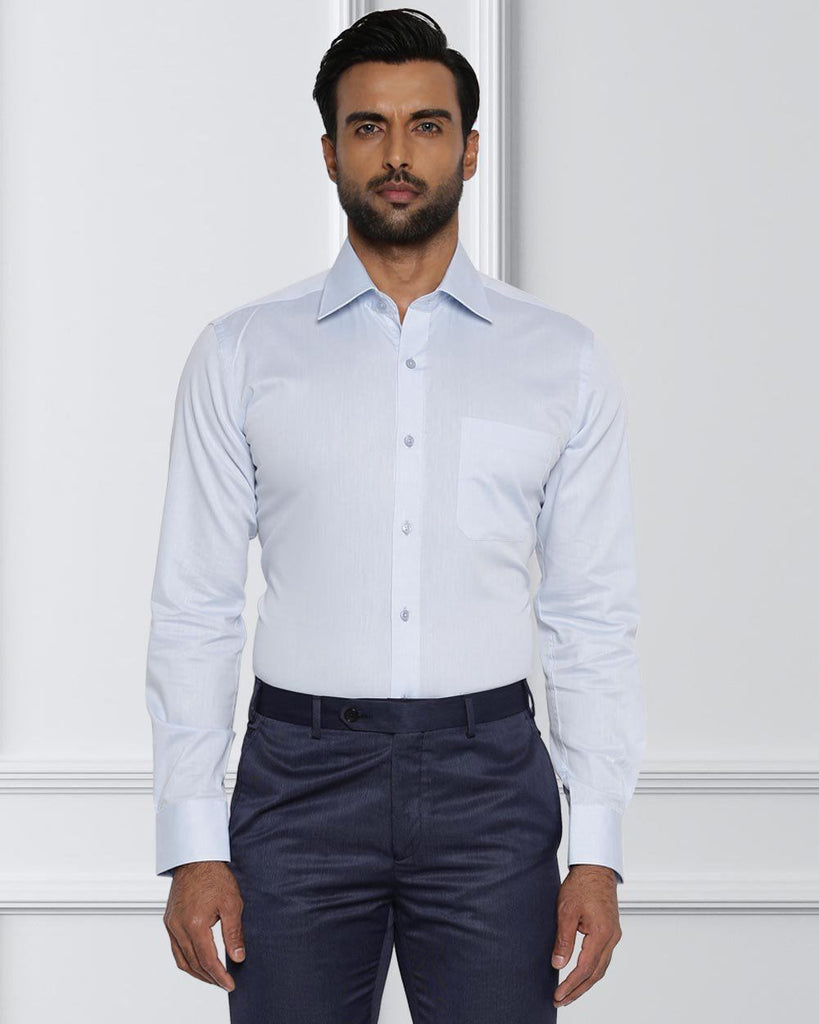 Raymond Light Blue Contemporary Fit Shirt