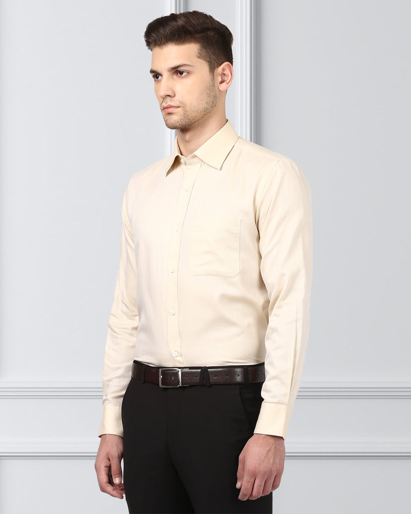 Raymond Medium Fawn Regular Fit Shirt