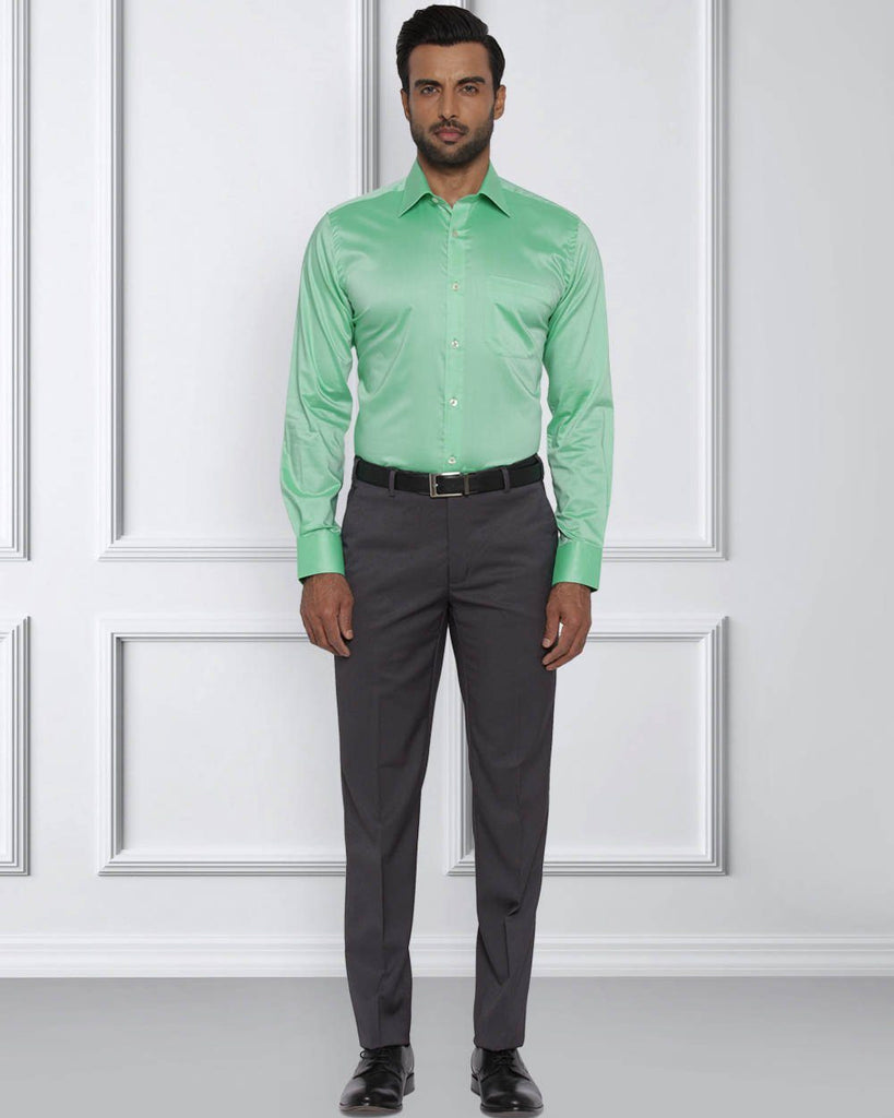 Raymond Medium Green Contemporary Fit Shirt
