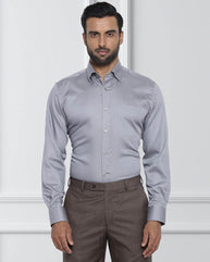 Raymond Medium Grey Contemporary Fit Shirt