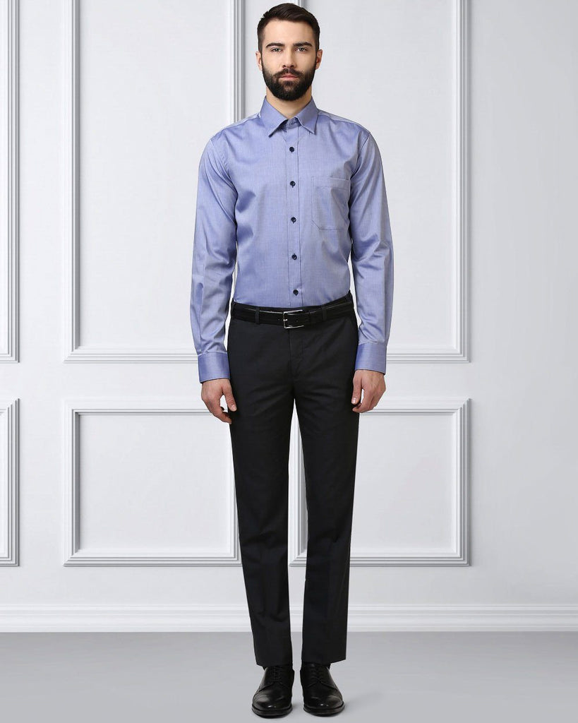Raymond Supima  Dark Blue  Contemporary Fit Shirt