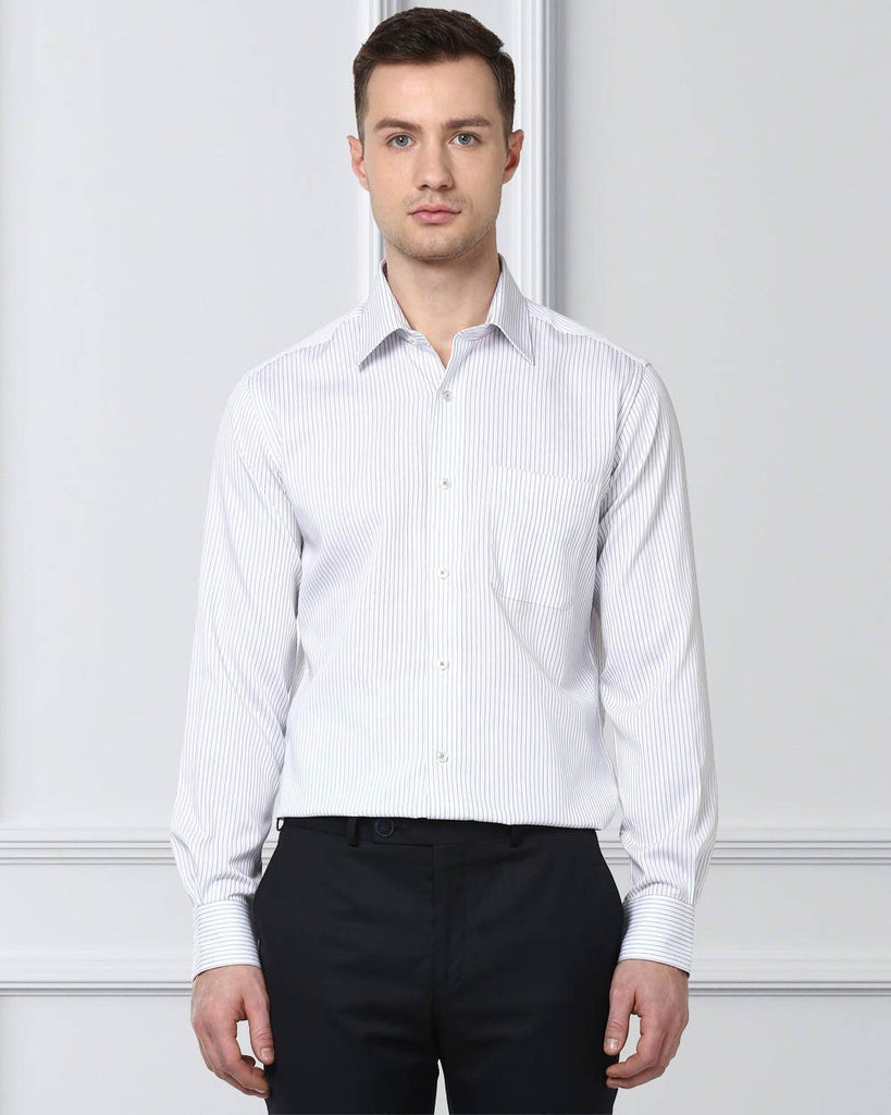 Raymond Men Grey Cotton Slim Fit Shirt