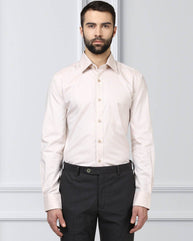 Raymond Supima Light Pink Contemporary Fit Shirt