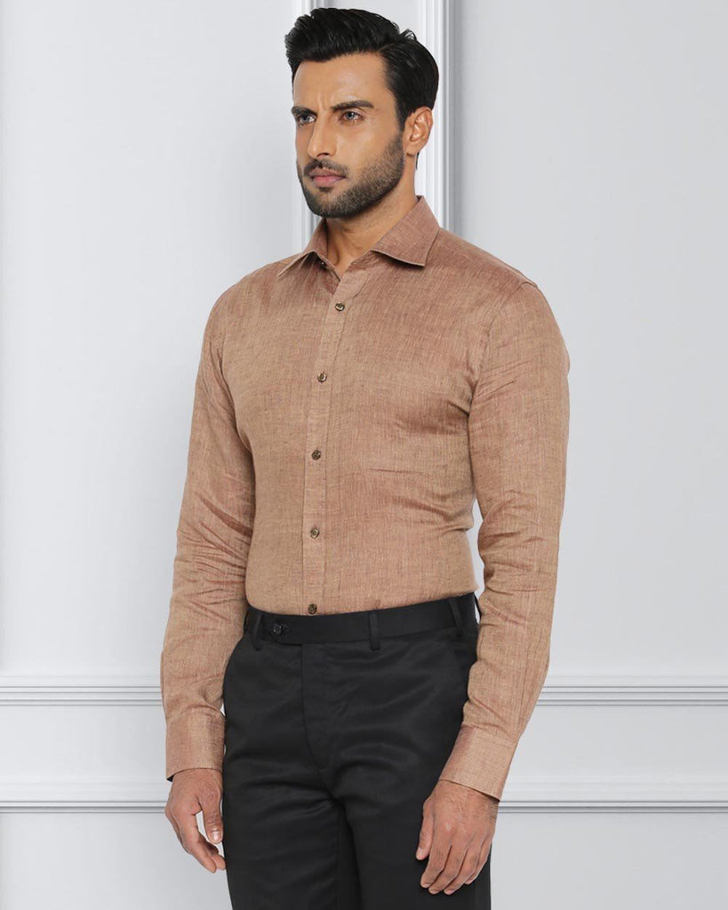 Raymond Dark Brown Contemporary Fit Shirt