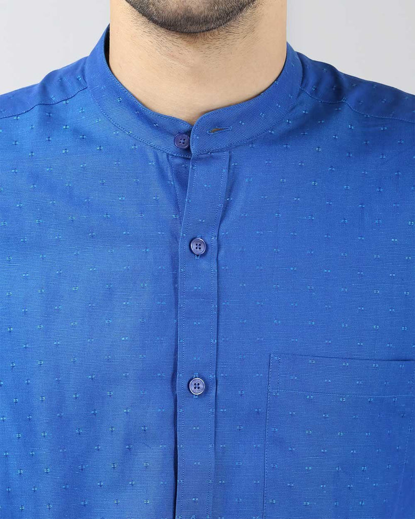Raymond Dark Blue Contemporary Fit Shirt