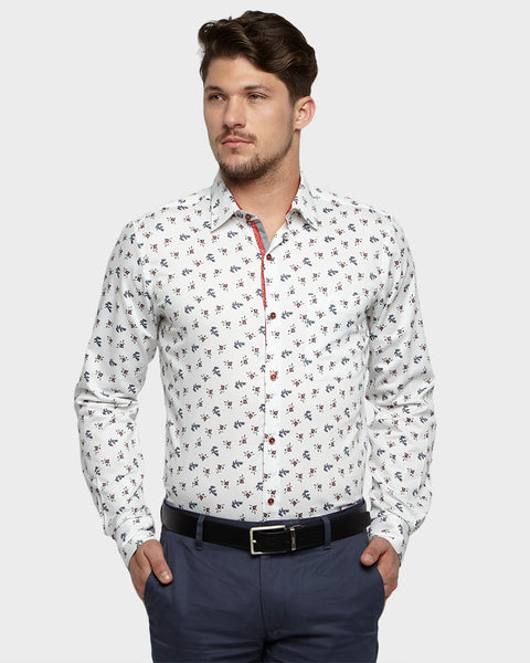 Raymond Medium Grey Regular Fit Shirt