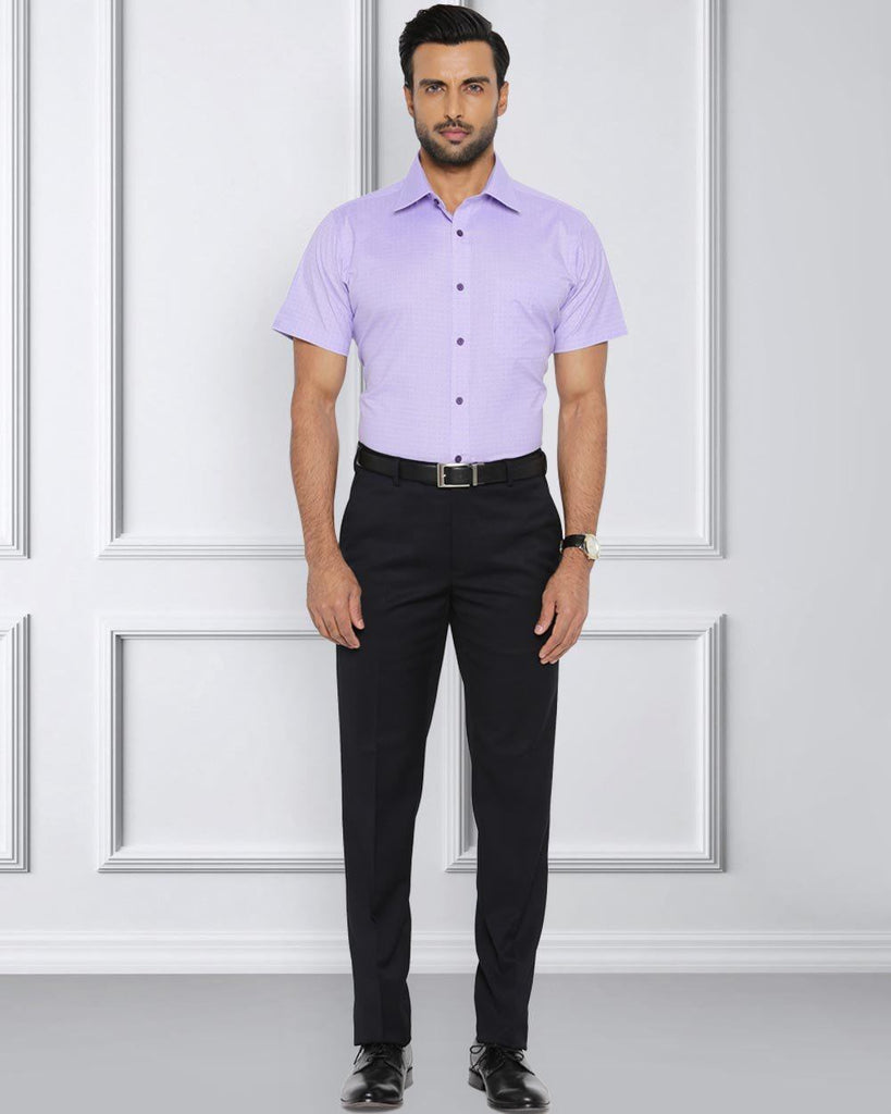 Raymond Light Violet Contemporary Fit Shirt