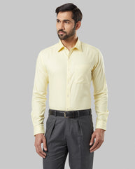 Raymond Yellow Slim Fit Shirt