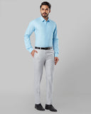 Raymond Medium Petrol Slim Fit Shirt