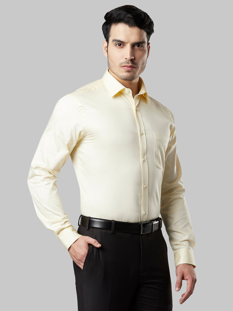 Raymond Light Yellow Slim Fit Shirt