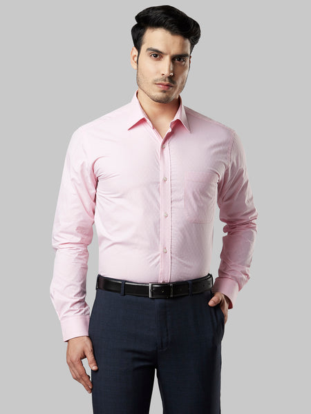 Raymond Light Red Slim Fit Shirt