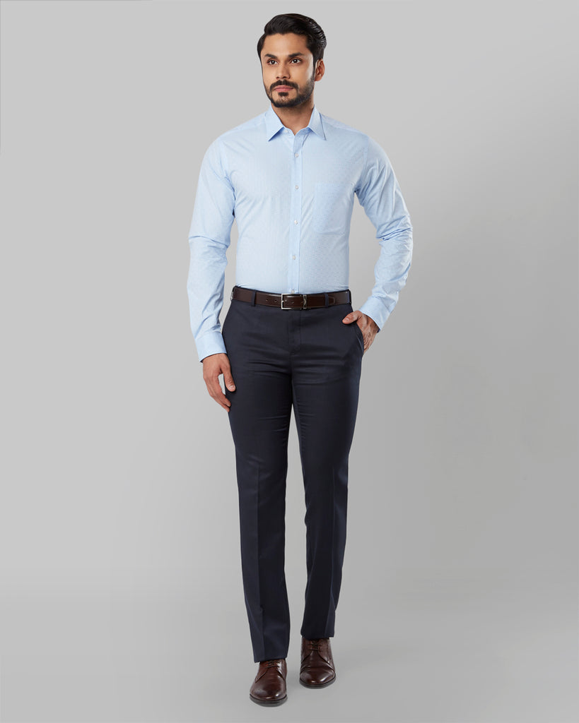 Raymond Medium Blue Slim Fit Shirt