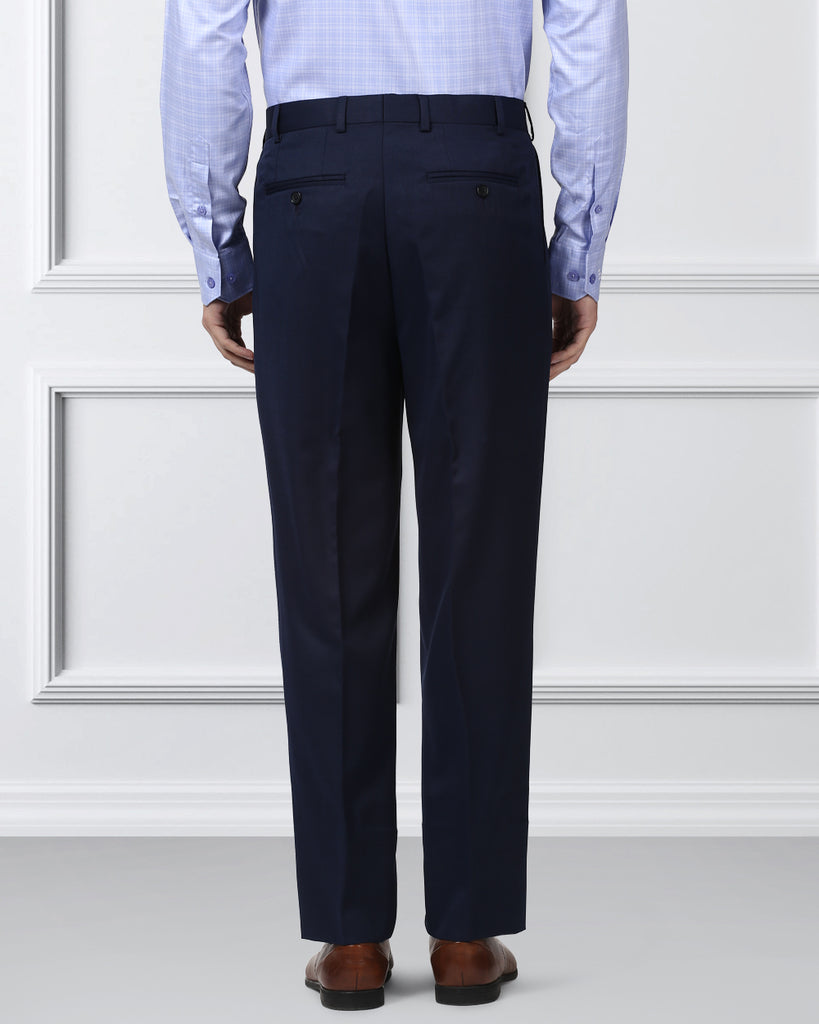 Raymond Medium Blue Regular Fit Trouser
