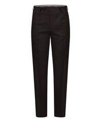 Raymond Dark Brown Regular Fit Trouser