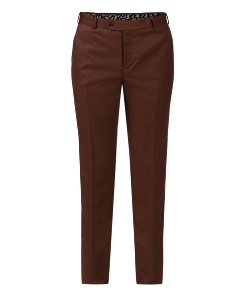 Raymond Dark Brown  Slim Fit Trouser