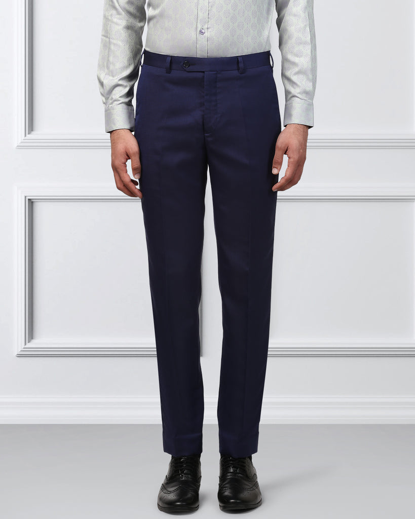 Raymond Dark Blue Slim Fit Trouser