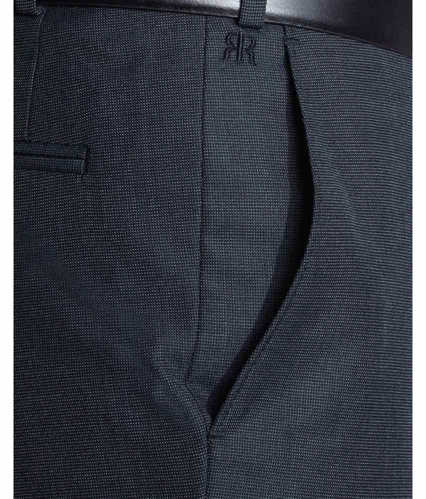 Raymond  Blue Contemporary Fit Trouser