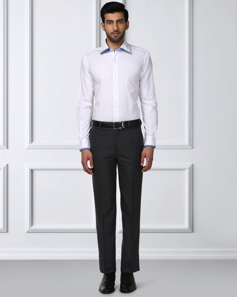 Raymond Dark Grey Contemporary Fit Trouser