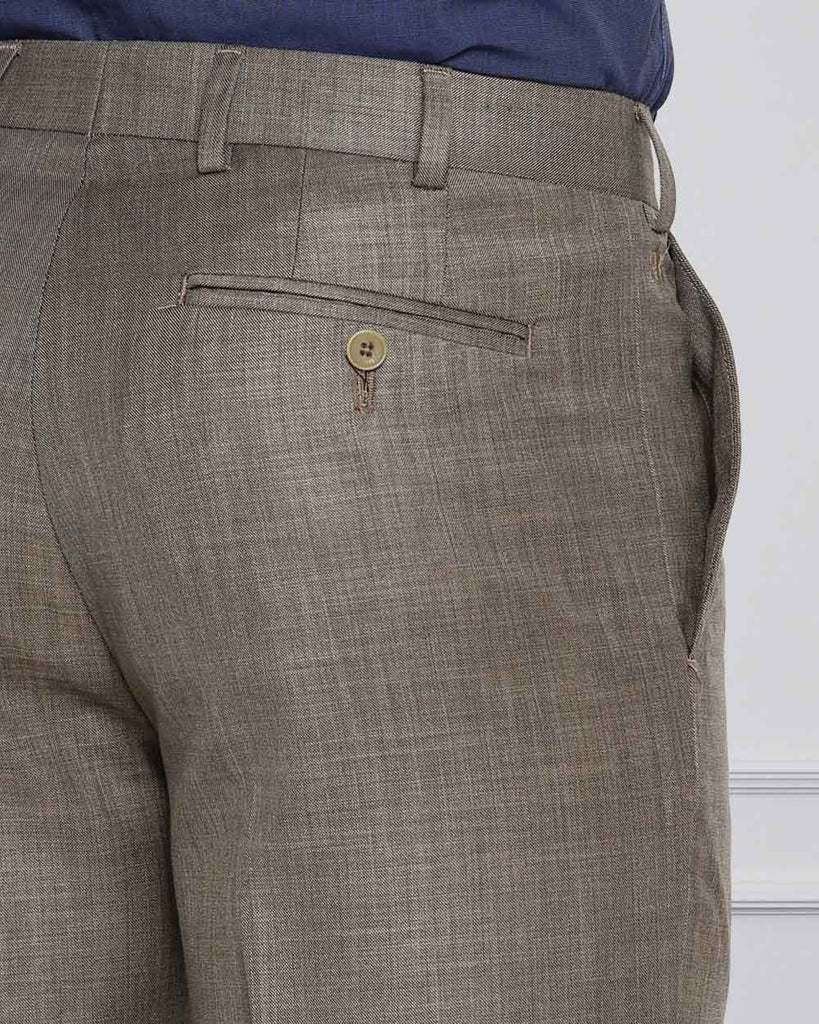 Raymond Medium Brown Contemporary Fit Trouser