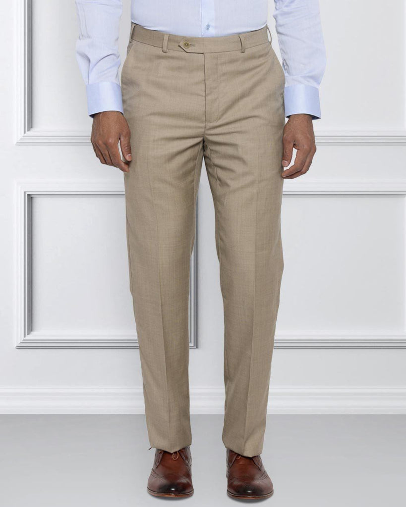 Raymond Medium Fawn Contemporary Fit Trouser