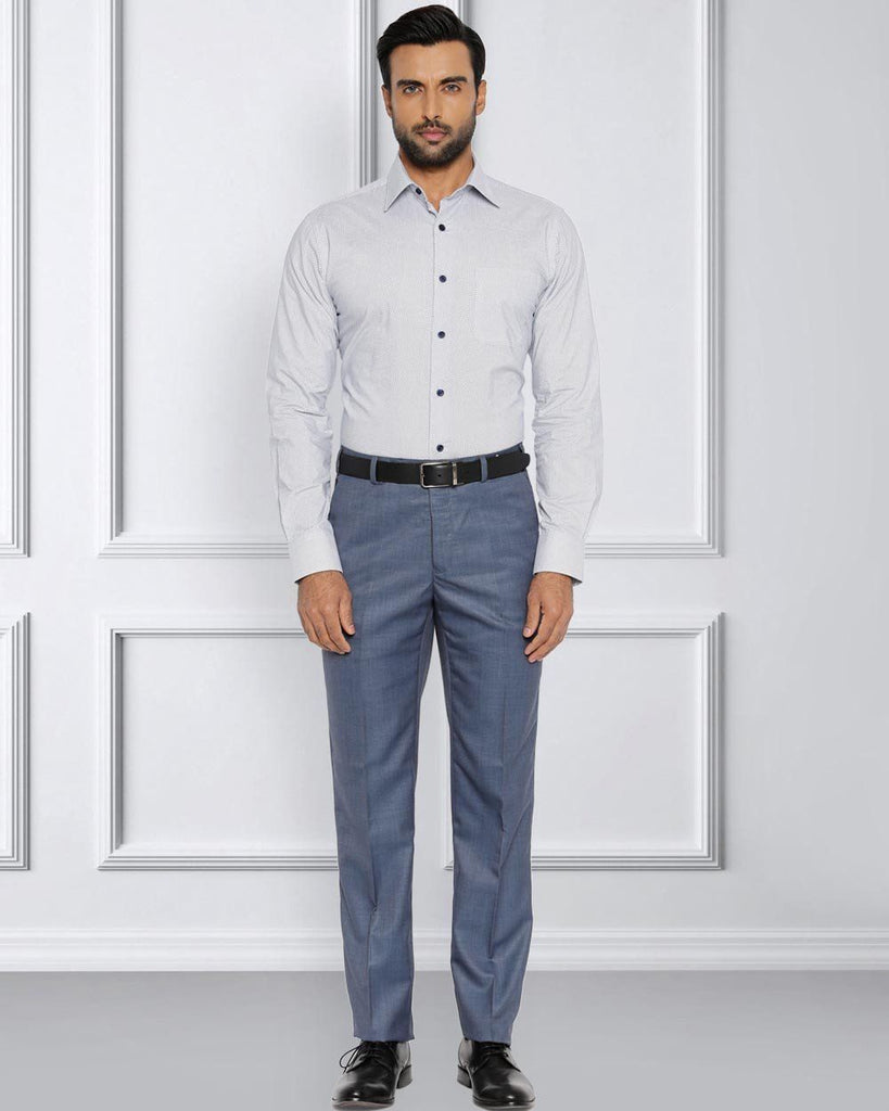 Raymond Medium Blue Contemporary Fit Trouser
