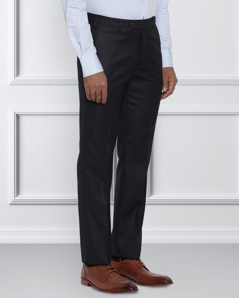 Raymond Dark Blue Contemporary Fit Trouser