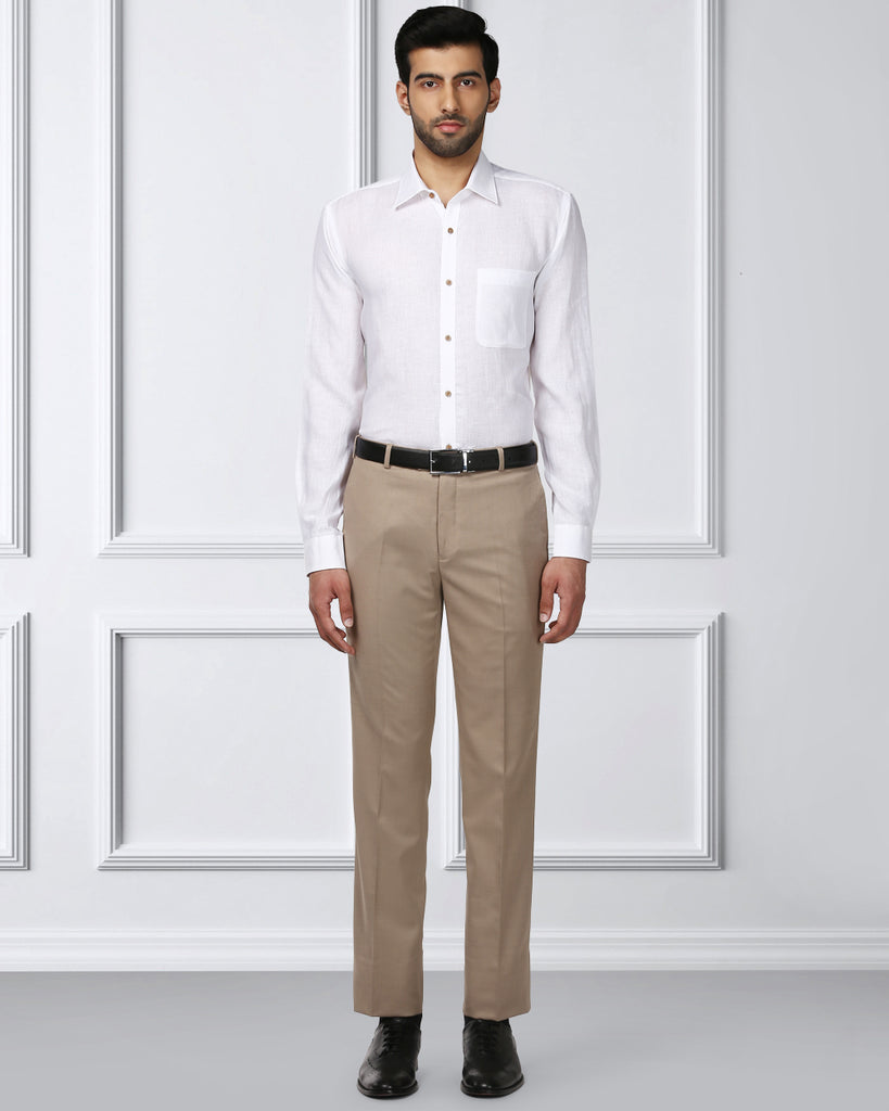 Raymond Dark Fawn Contemporary Fit Trouser