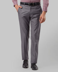 Raymond Dark Grey Regular Fit Trouser