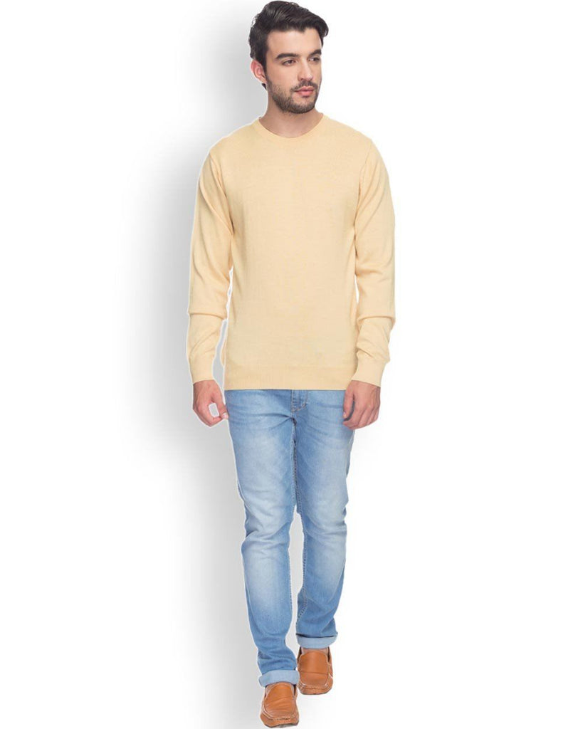 Raymond  Yellow Solid Sweater