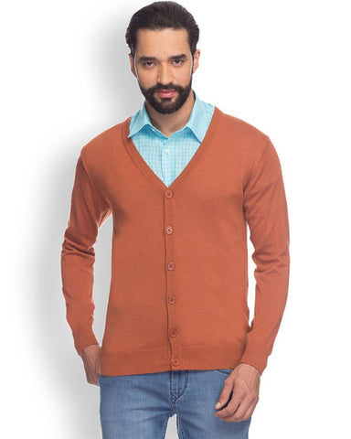 Raymond  Orange Solid Sweater