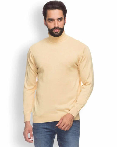 Raymond  Yellow Contemporary Fit Sweater