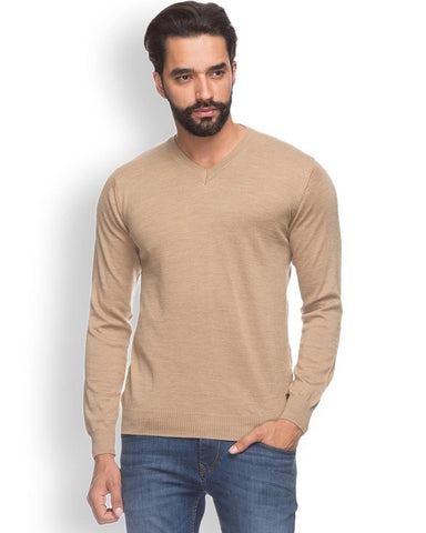 Raymond  Beige Contemporary Fit Sweater