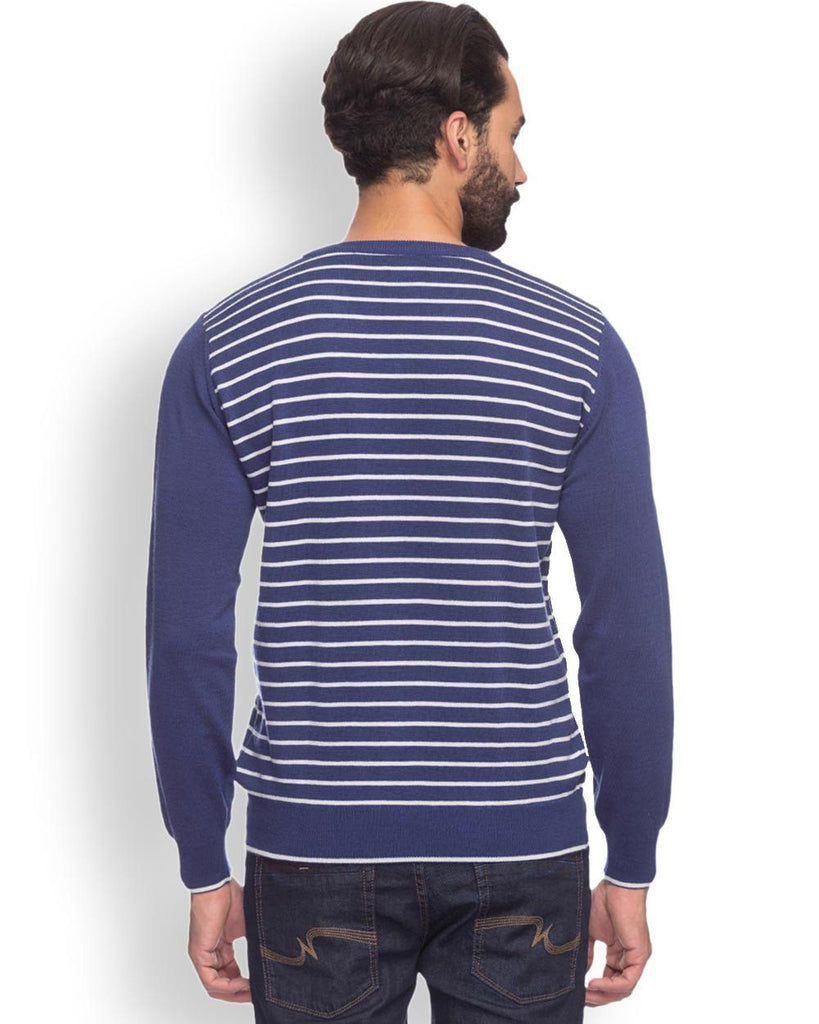 Buy Raymond Men Blue Contemporary Fit Sweater Online – RaymondNext.com