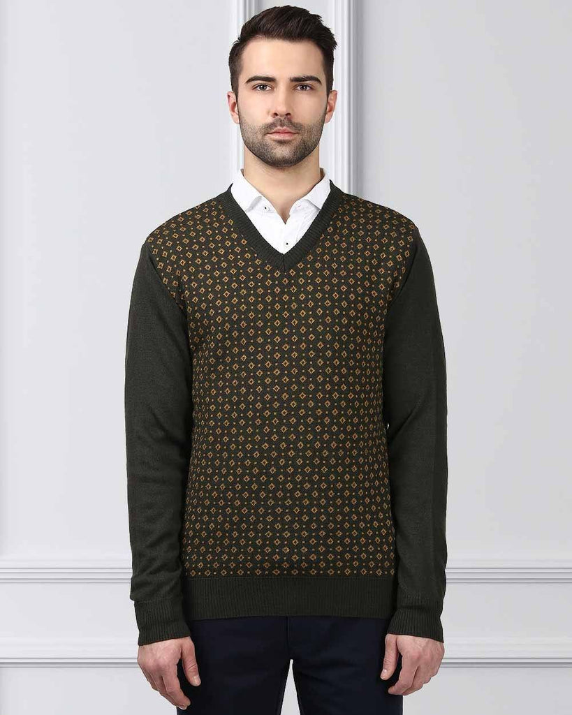 Raymond Green Regular Fit Sweater