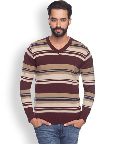 Raymond  Maroon Smart Fit Sweater