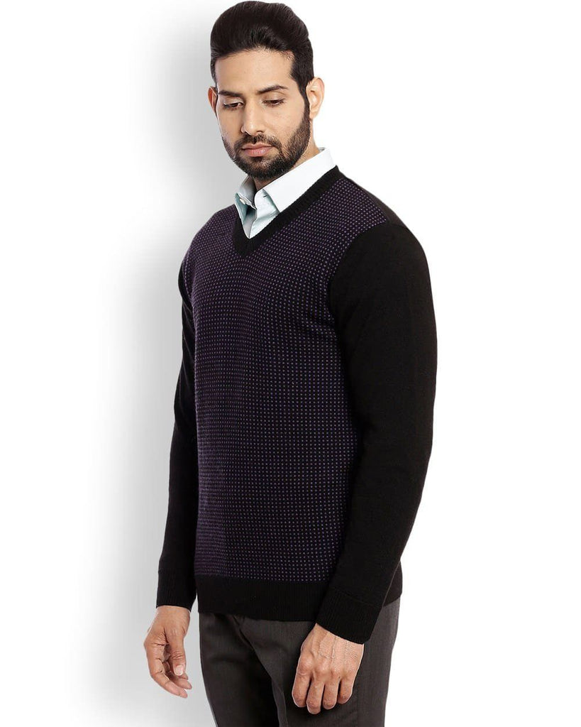 Raymond Black Checkered Sweater