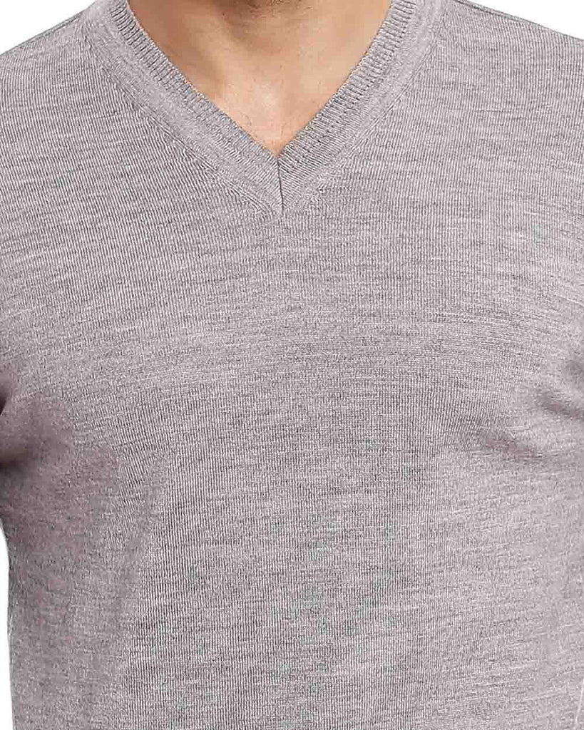 Raymond Medium Grey Solid Sweater