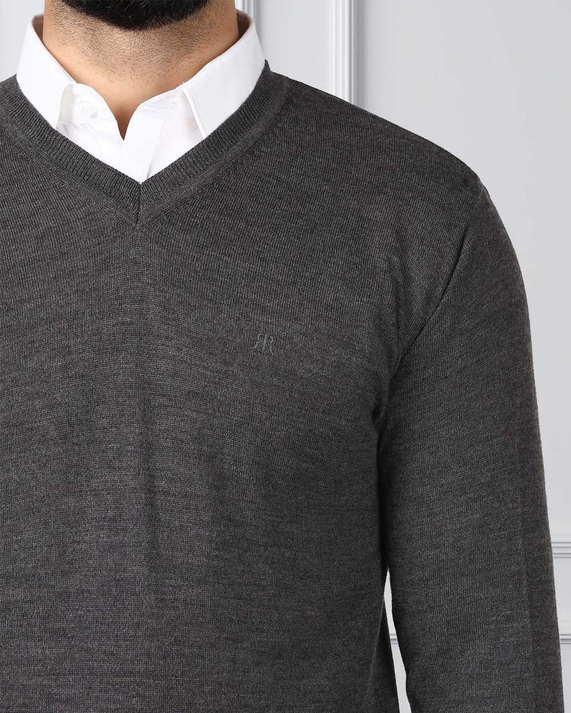 Raymond Grey Regular Fit Sweater