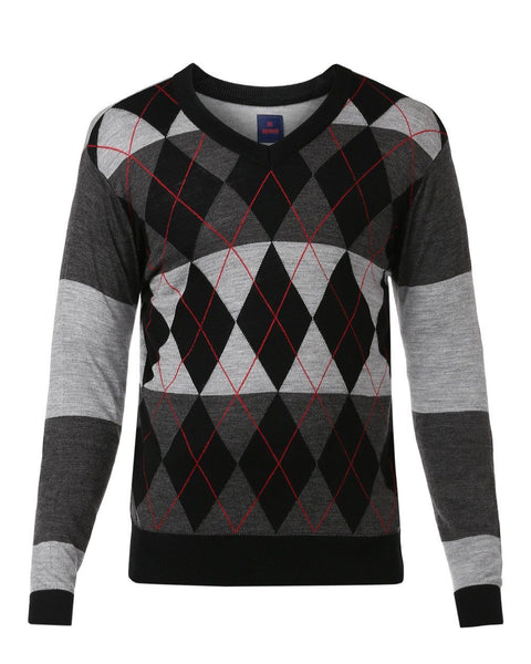Raymond Black Regular Fit Sweater