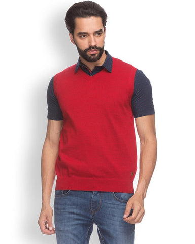 Raymond  Red Contemporary Fit Sweater
