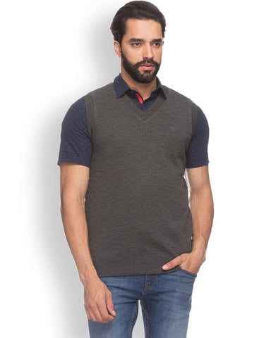 Raymond  Grey Smart Fit Sweater