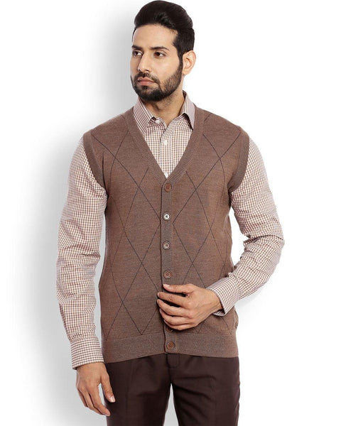 Raymond Medium Brown Contemporary Fit Sweater