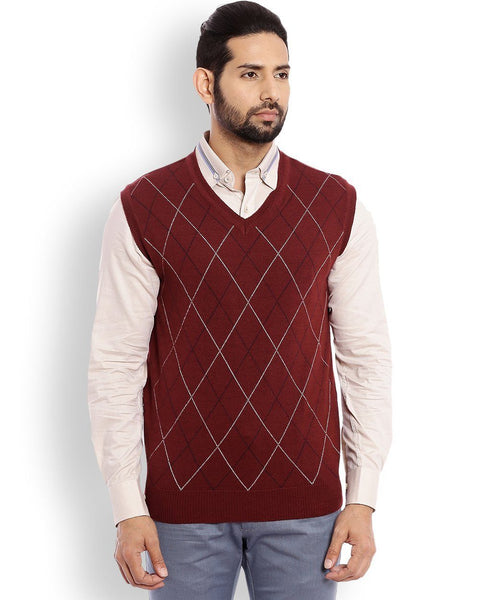 Raymond Dark Violet Contemporary Fit Sweater