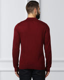 Raymond Dark Maroon Contemporary Fit Sweater