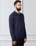 Raymond Dark Blue Contemporary Fit Sweater