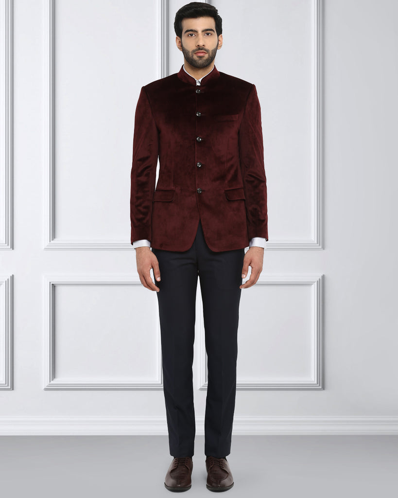 Raymond Maroon Regular Fit Blazer