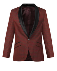 Raymond Dark Red Contemporary Fit Blazer